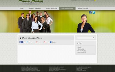 Welcome to Prime Media Holdings, Inc. Website
